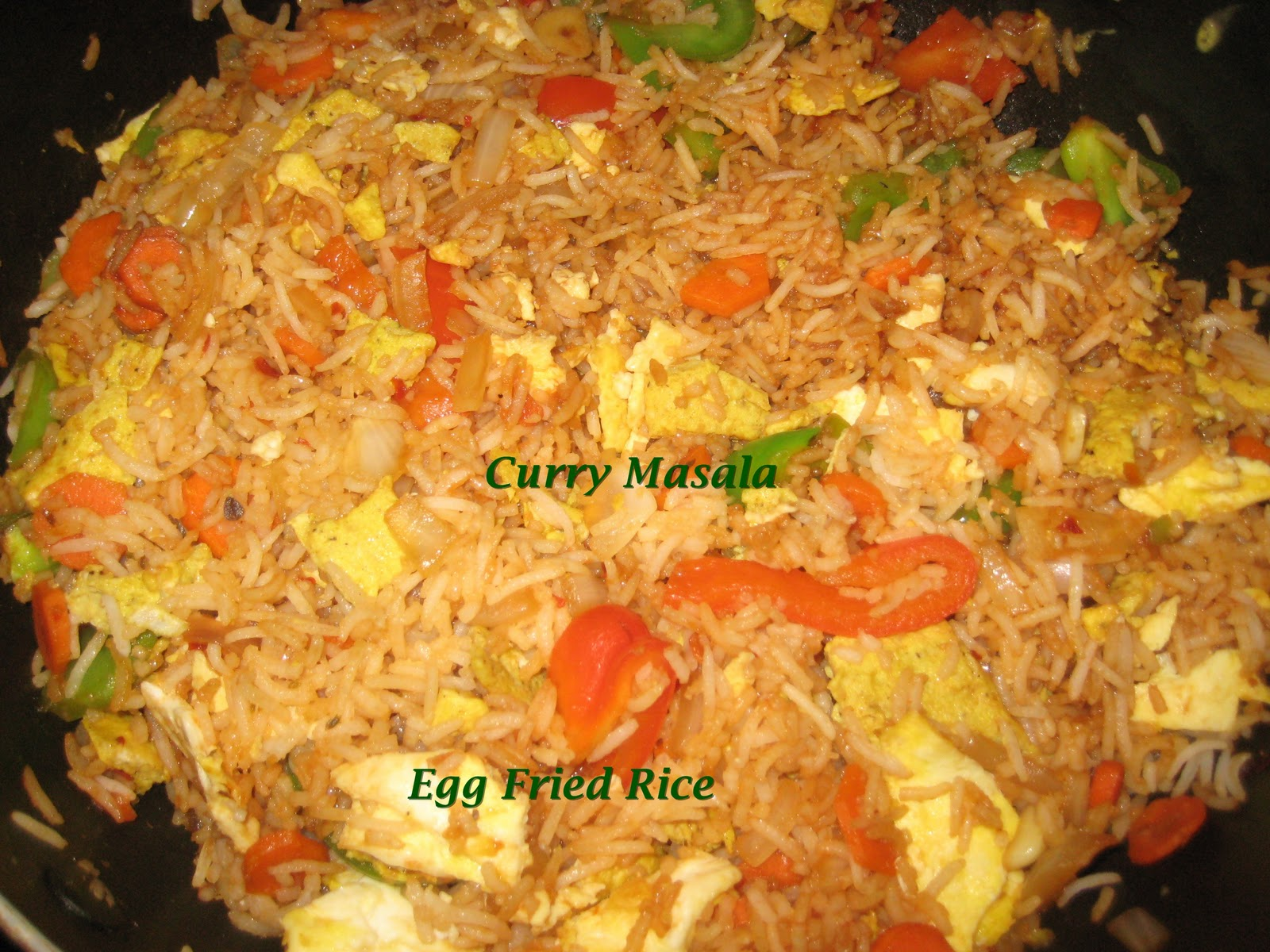 Curry Masala: Easy Spicy Egg Fried Rice