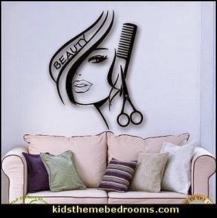 Hair Beauty Salon Barbershop Wall Decal