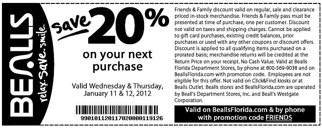 picture regarding Free Printable Bealls Florida Coupon identified as Sizzling Cost savings - Identify Greatest Discounts, On line Discount codes Code, Printable