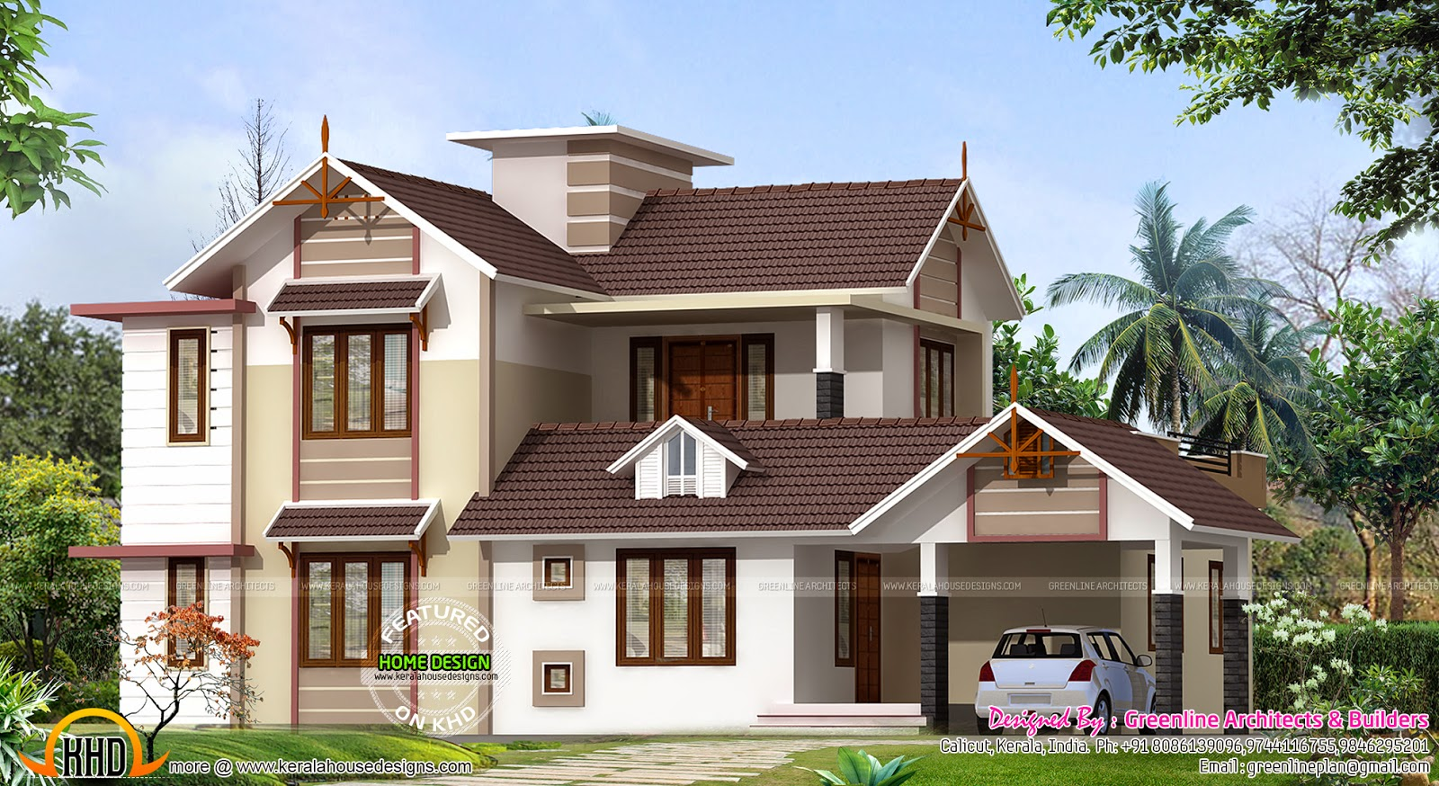 2400 sq ft new house design kerala home design and floor for New house bedroom ideas