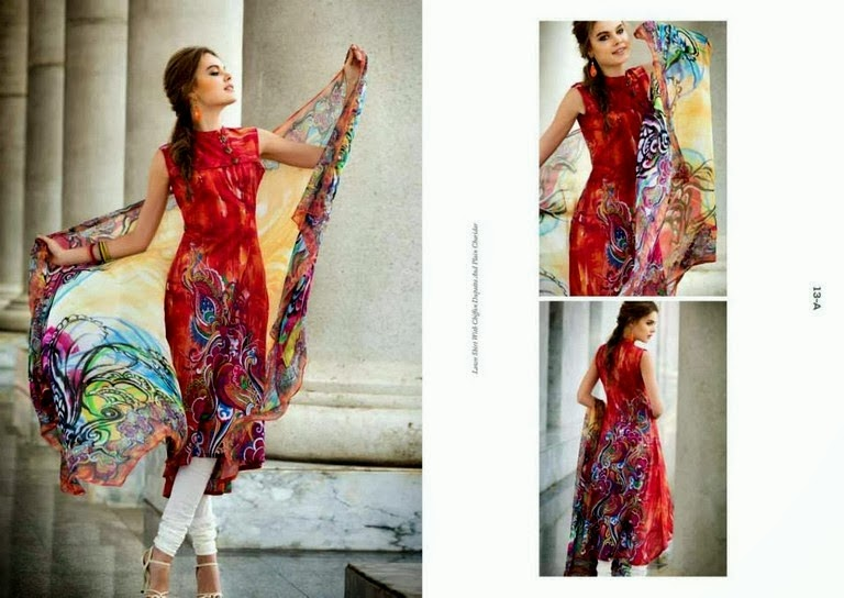 Neckline and Chiffon Lawn Dresses