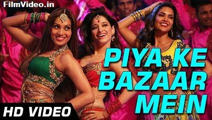Piya Ke Bazaar Mein - Humshakals (2014) HD Music Video Watch Online
