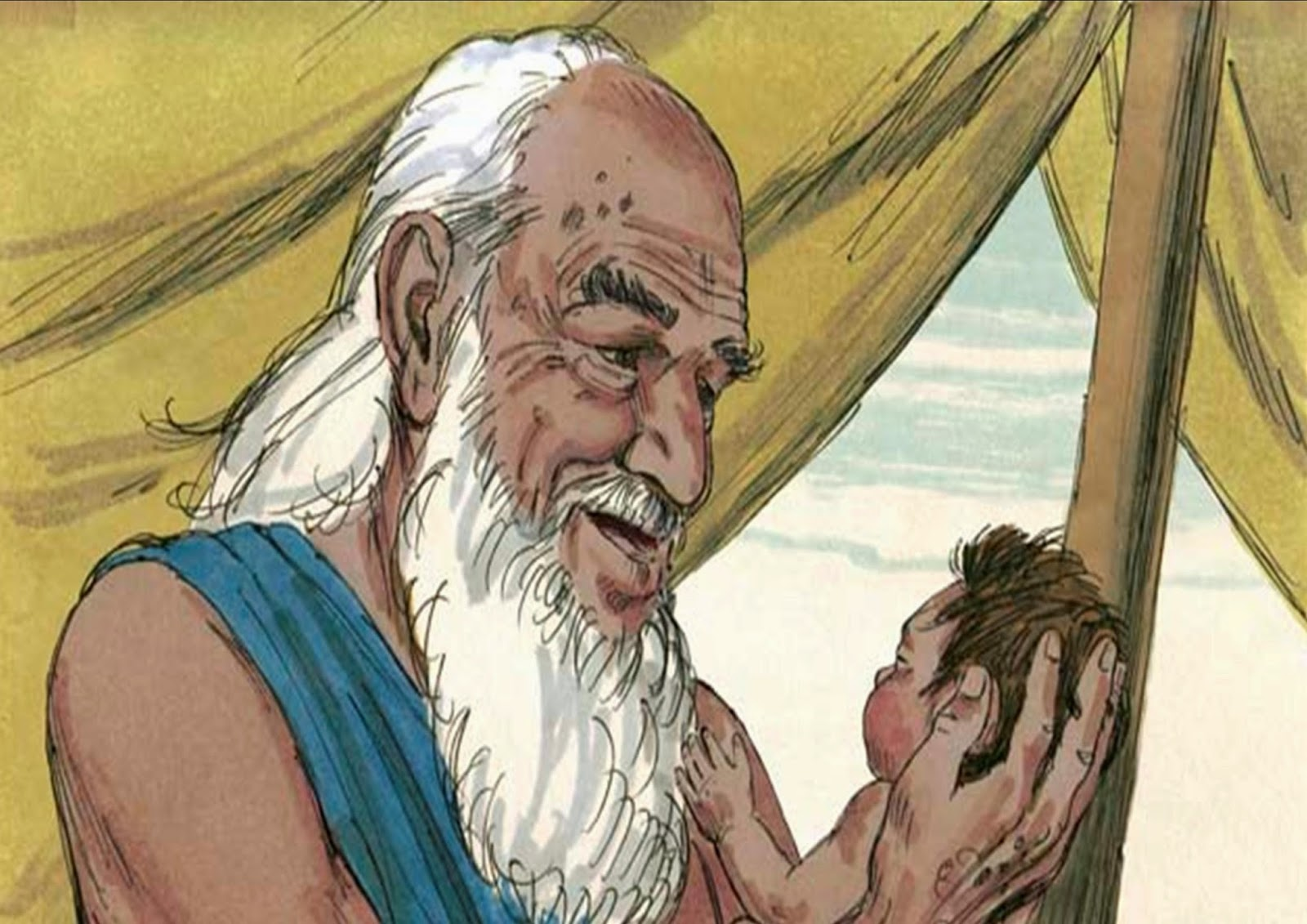 Image result for photo Isaac and Ishmael
