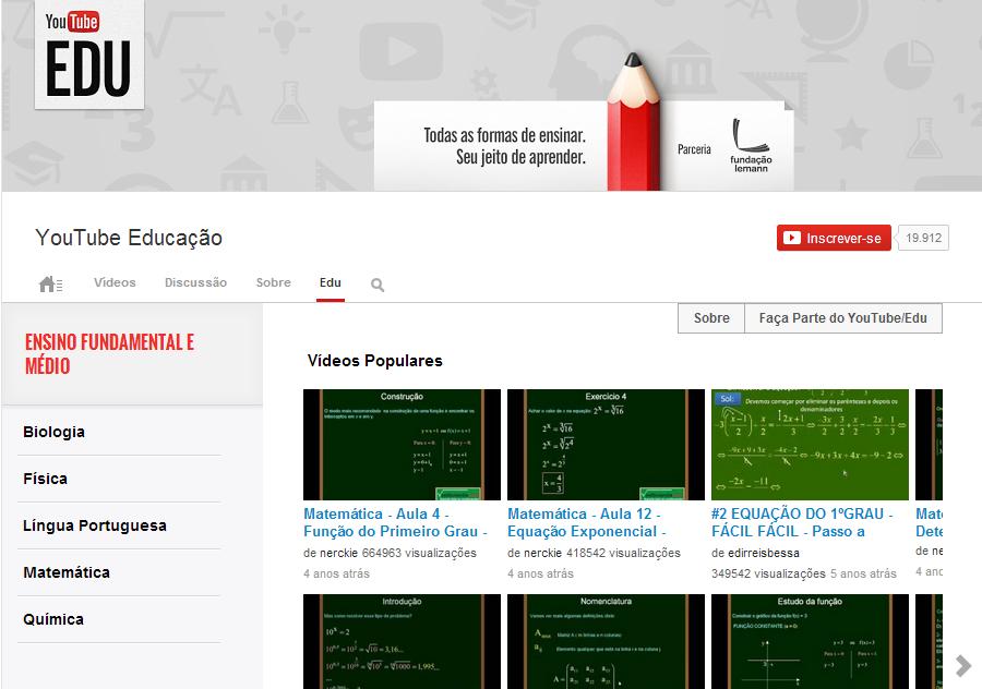 Youtube/EDU - Fonte/Reprodução: Youtube.com/edu