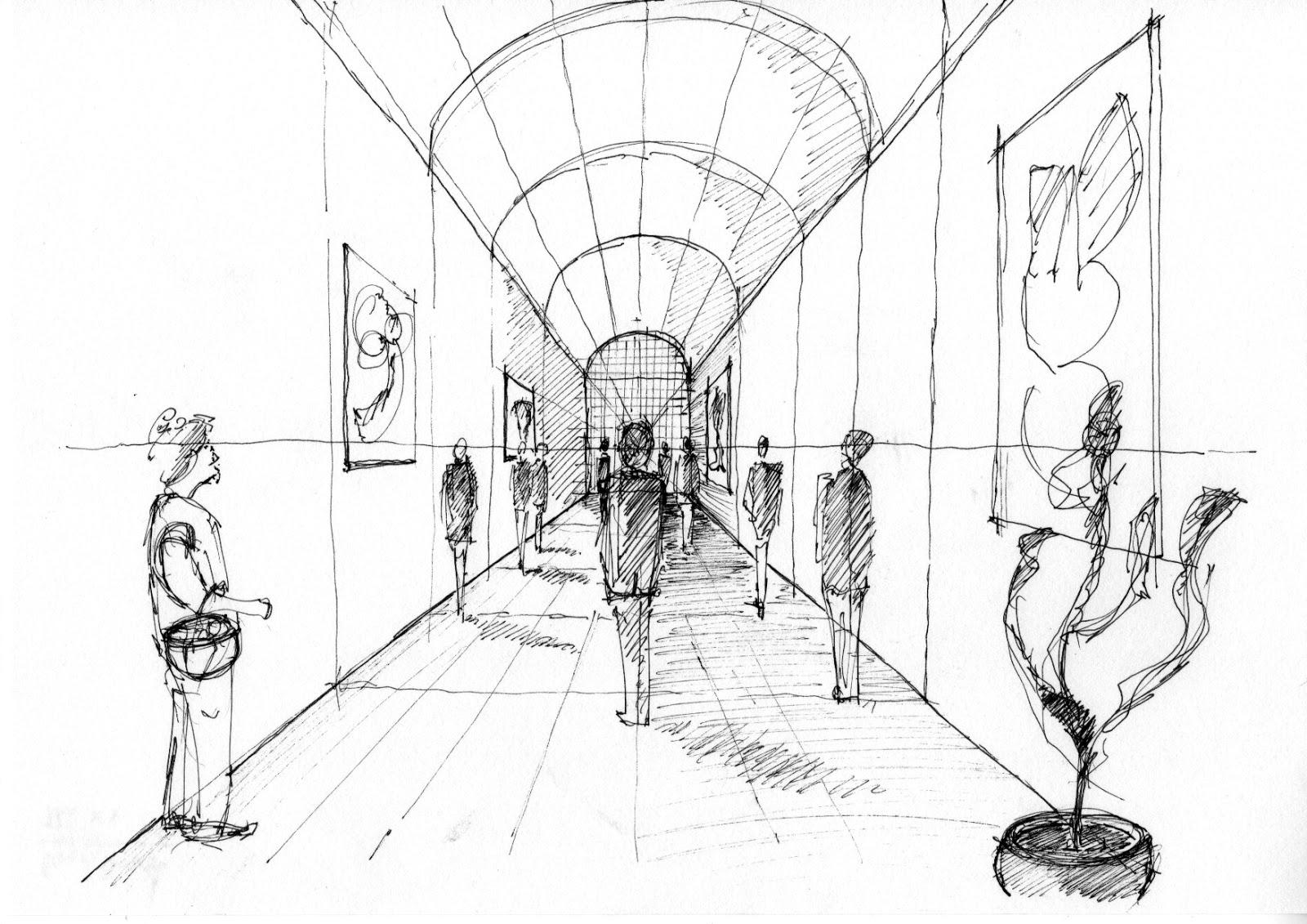 S k i z z e r a skizzierkurs lektion 9 perspektive - Architektur skizze ...