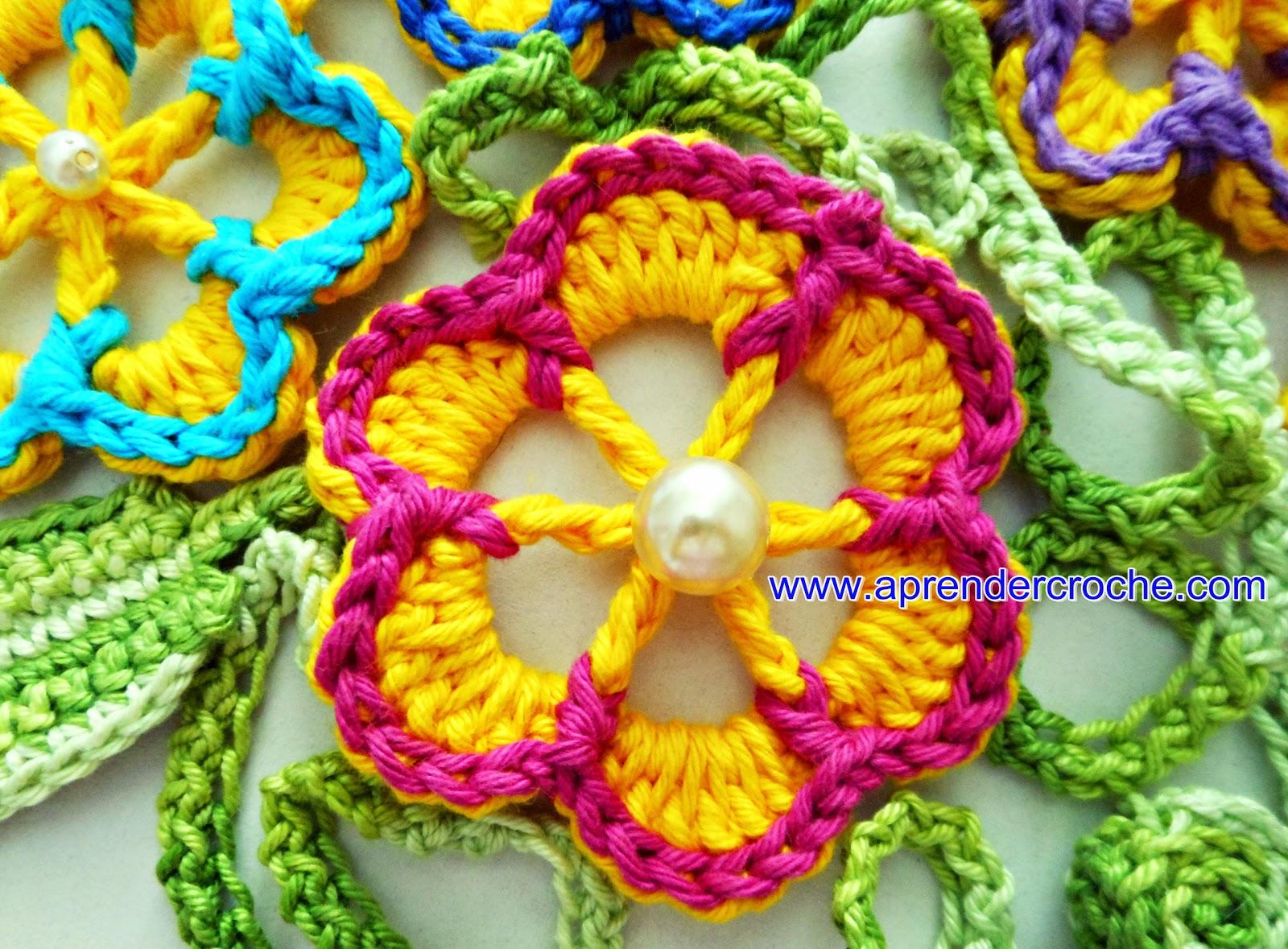 aprender croche com flores dvd bazar horizonte