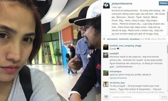 Ozlyn Selar Sikap Peminat Rentap Leher Johan Untuk Bergambar