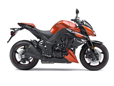 2012 Kawasaki Z1000 motorcycle