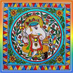Madhubani Paintings of Ganesha