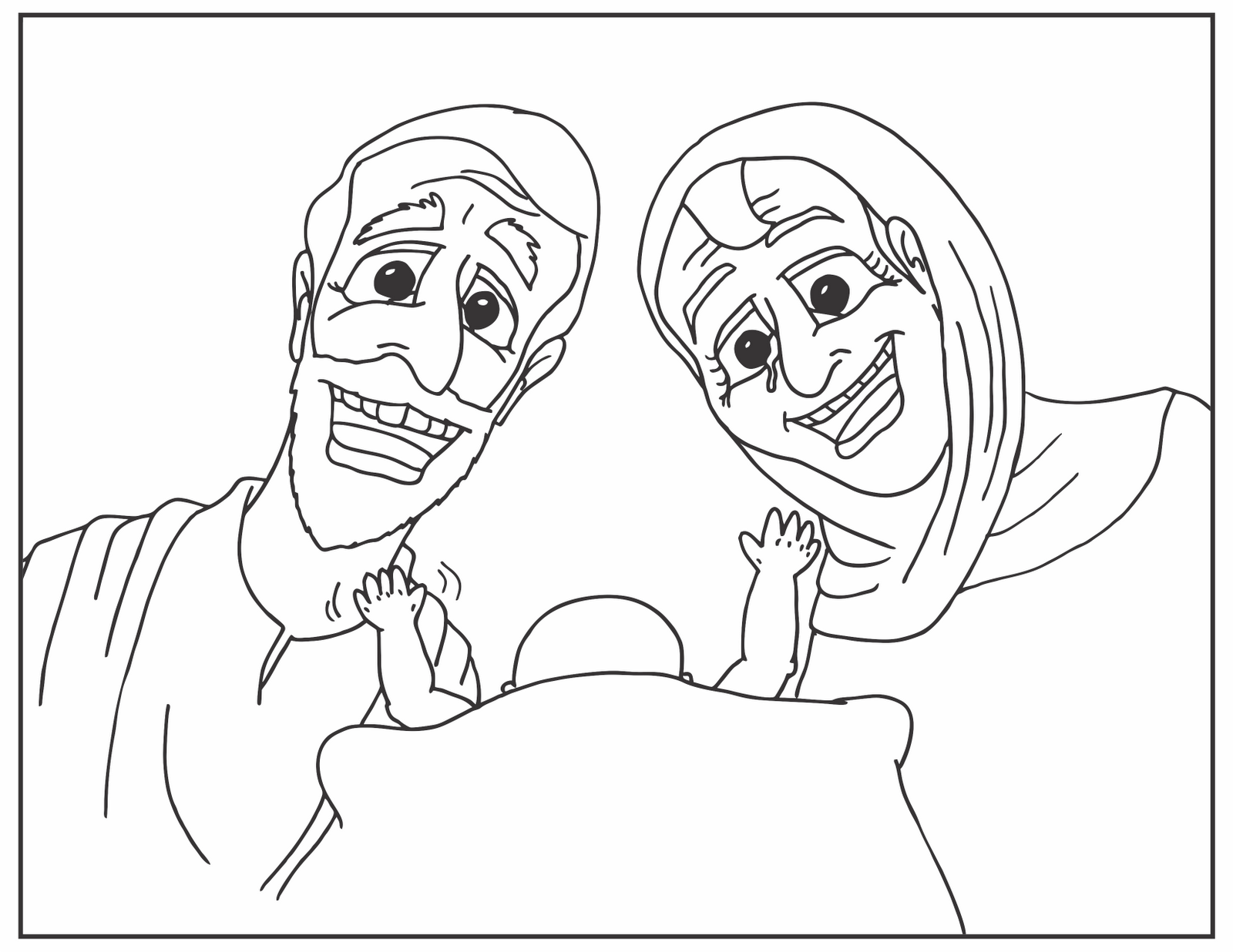 baby isaac bible coloring pages - photo#8