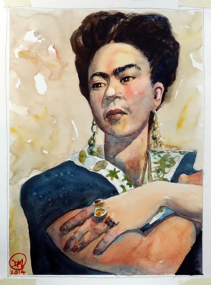 Frida Kahlo de Rivera by David Meldrum - 20140128