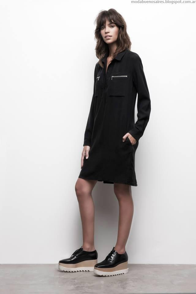 Vestidos minimalistas invierno 2015.