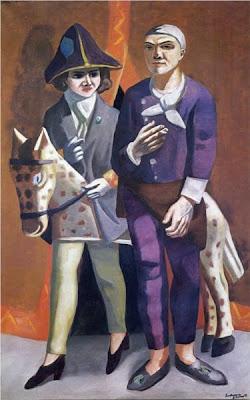 Max beckmann - l'artiste et sa femme, 1925