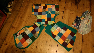 patchwork waistcoat pattern pieces