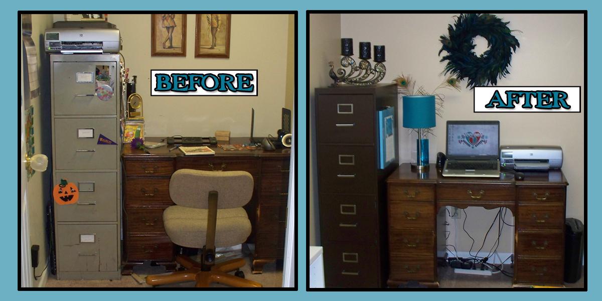 Make Do Reorganized Office Area