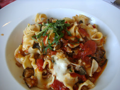 Mafaldi with Italian sausage at Alma Nove, Hingham, Mass.