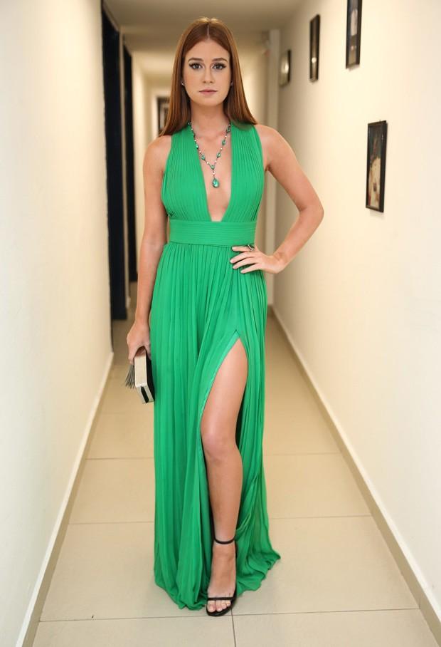 Vestido verde esmeralda marina ruy barbosa