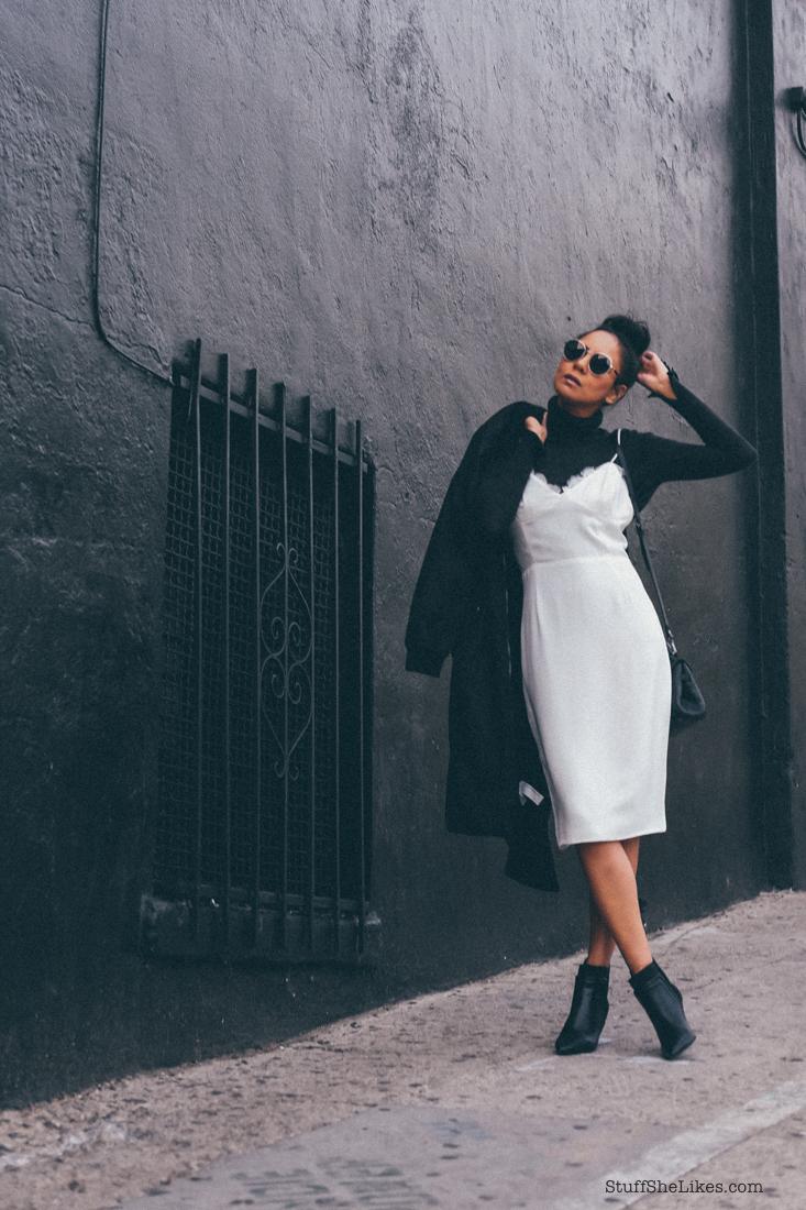 Αποτέλεσμα εικόνας για turtleneck with slip dress