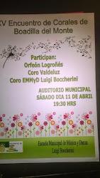ENCUENTRO DE CORALES EN BOADILLA 11 ABRIL 2015
