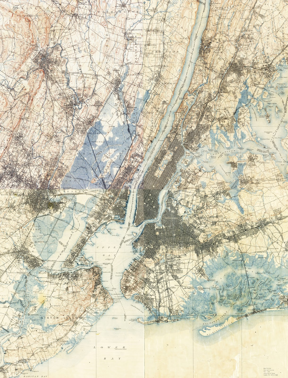The Billy Wilson August - Nyc map topographic