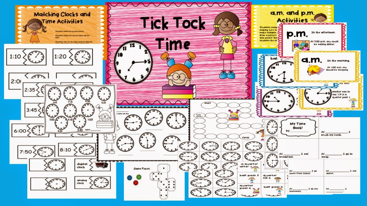 http://www.teacherspayteachers.com/Product/Tick-Tock-Time-1294689