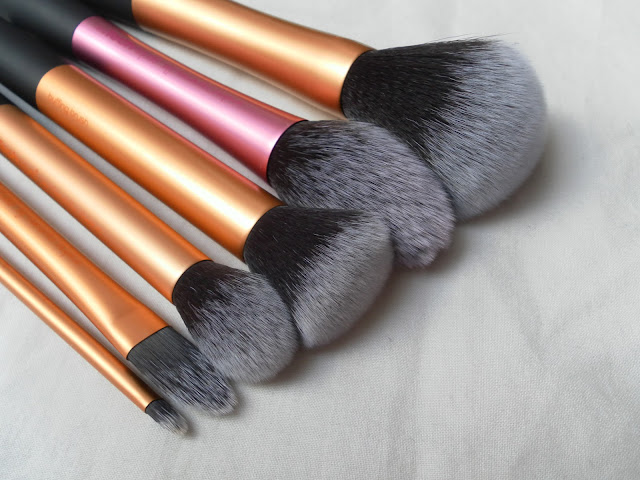 A picture of Real Techniques Core Collection Brush Set, Blush Brush and Powder Brush