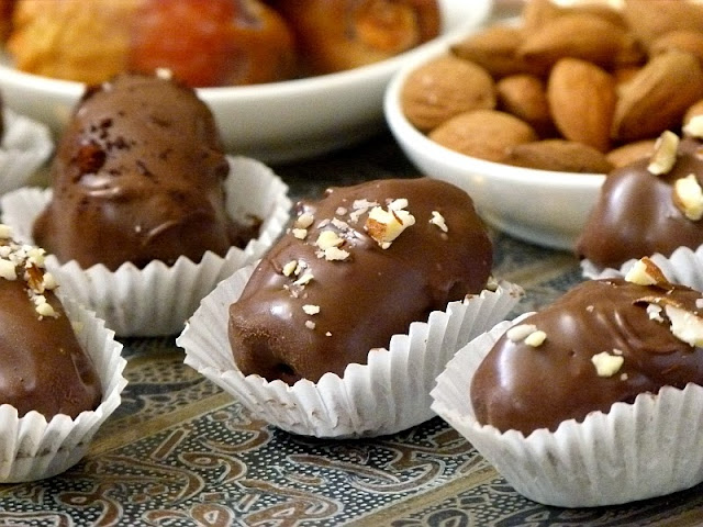 Rezept Schokoladendatteln mit Mandeln - Groppi - Kairo - Cairo - Datteln