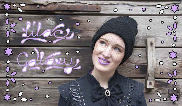 veiled beanie, jil sander, diy, lilac lipstick