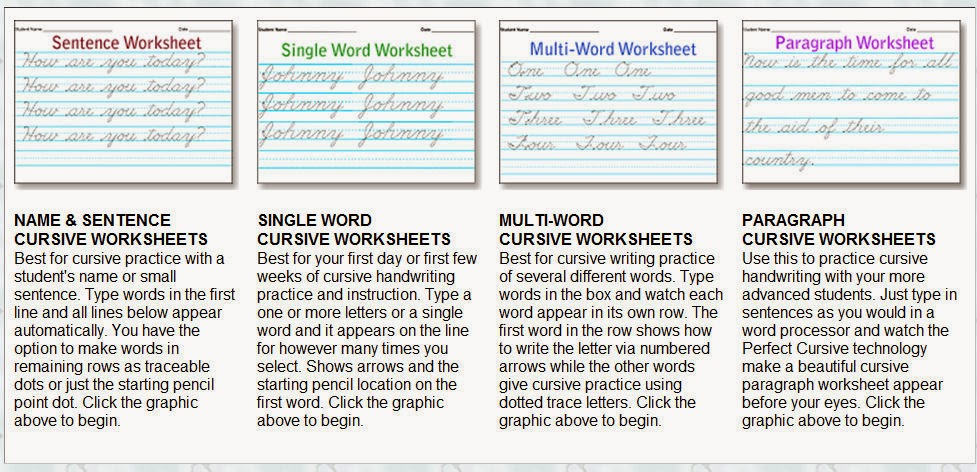 Script Handwriting Worksheets