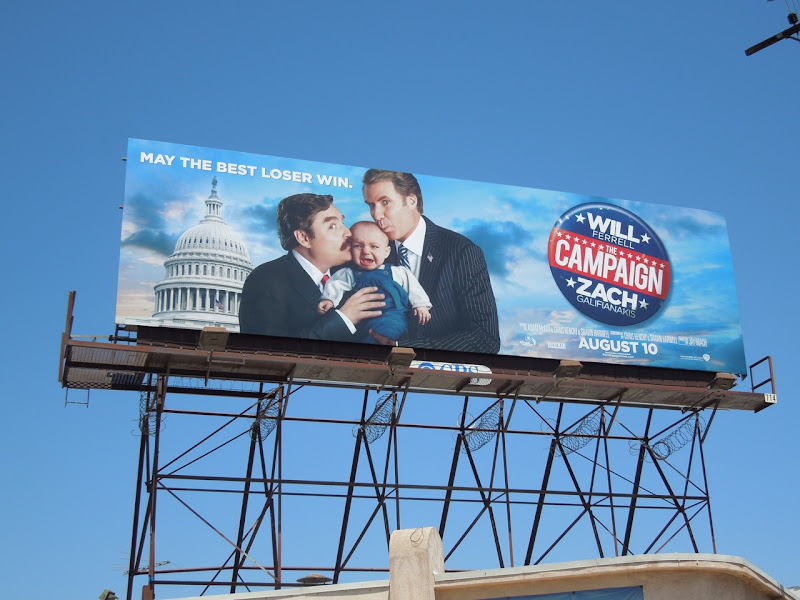 Campaign kissing baby billboard
