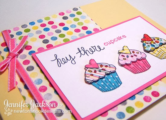 Cupcake Card using Love à la Carte Stamp set by Newton's Nook Designs.
