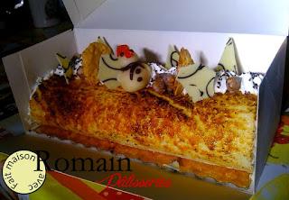 Poire caramélisées et chocolat blanc - Romain Pâtisseries ©