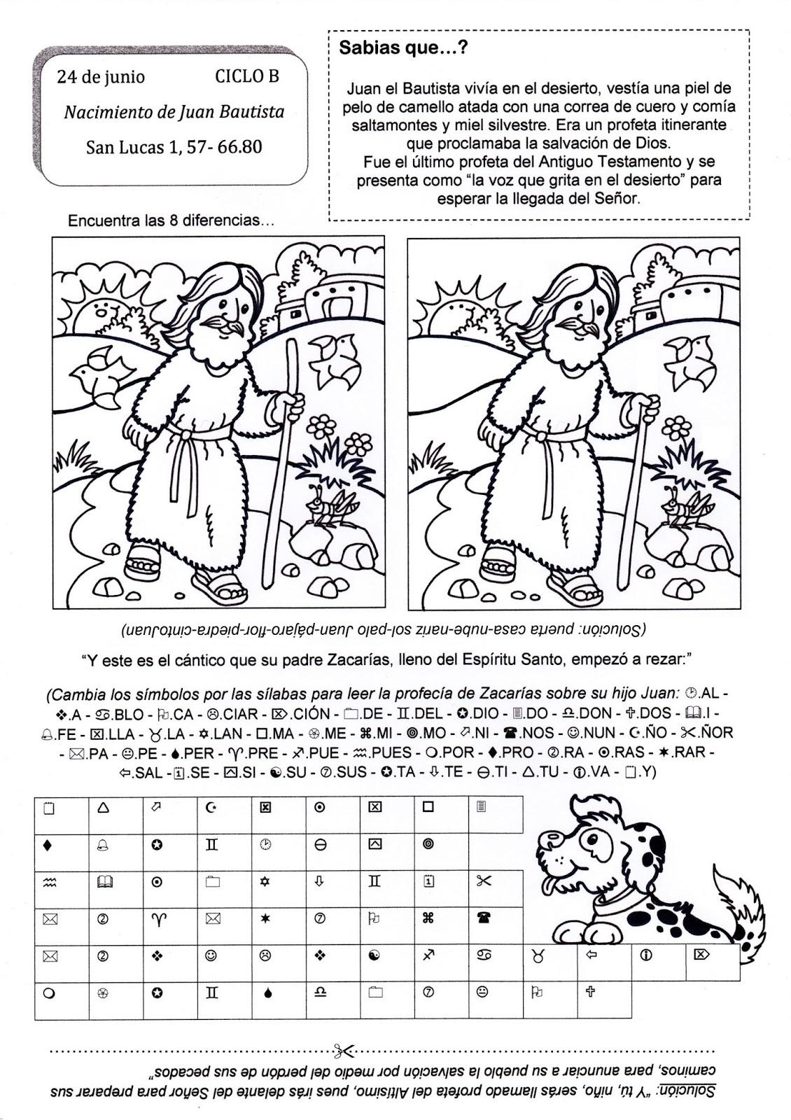 El Rincón de las Melli: 24 de junio: Nacimiento de san Juan Bautista ...