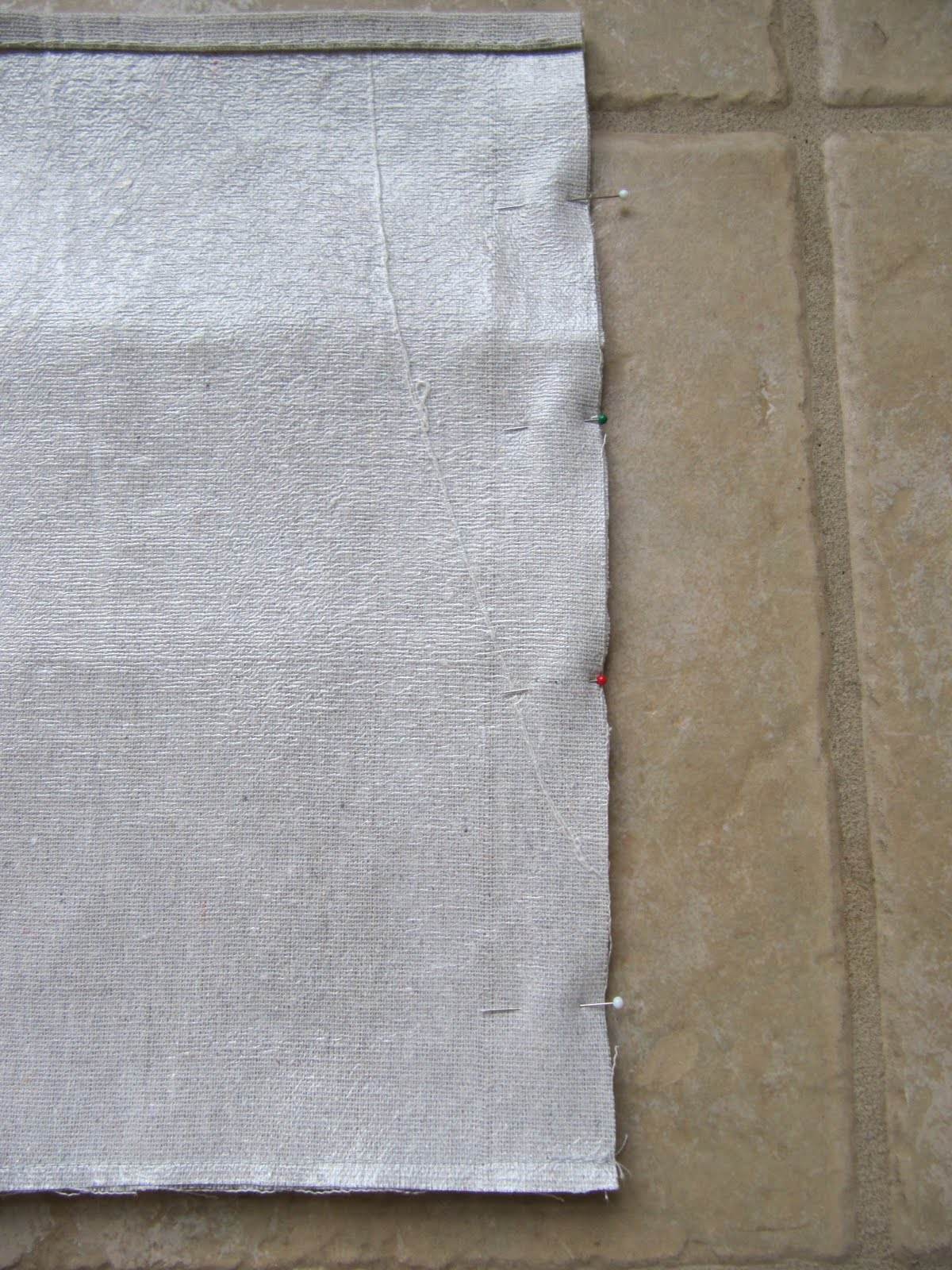 and sew with 12 inch seam you can zig zag over this to prevent fraying and add a finished edge