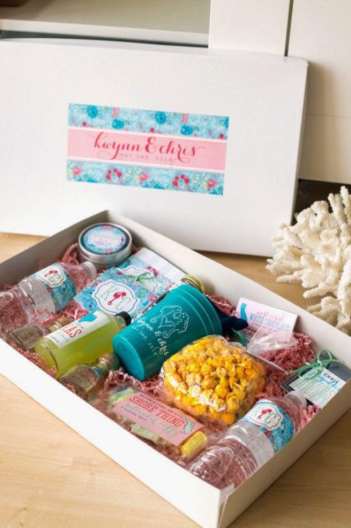 Preppy Beach Wedding Welcome Box