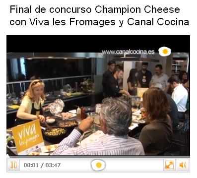 Rezeditas final de concurso champion cheese con viva les for Canal cocina concursos