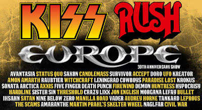 Sweden Rock Festival, Kiss, Rush, Europe, Survivor