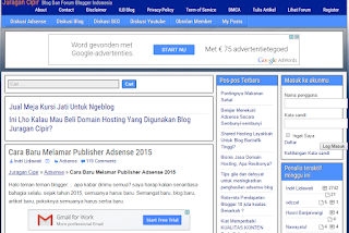 cara daftar adsense terbaru versi juragan cipir