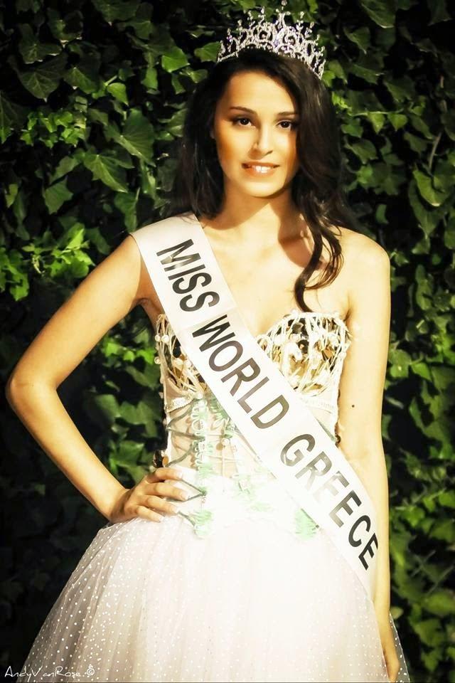 Miss World Greece 2014 winner Eleni Kokkinou