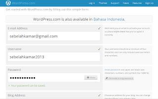 Cara membuat Blog di Wordpress Terbaru, cara membuat Blog SEO