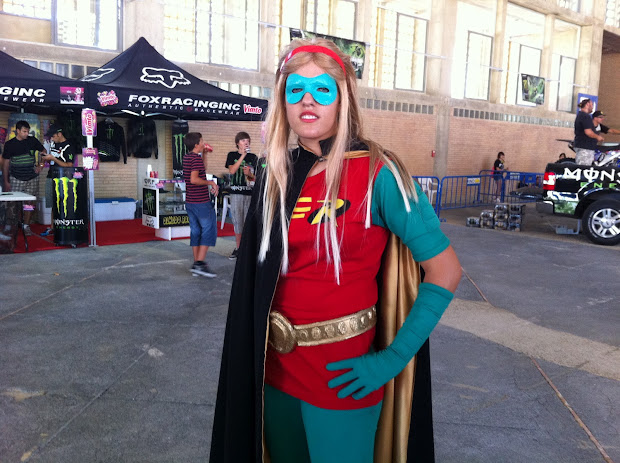 Stephanie Brown (Robin) en la Comic Con Spain 2012