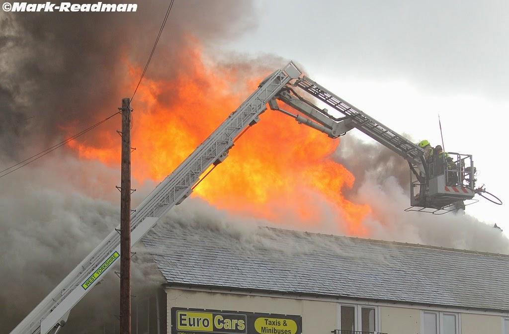 Fire Castleford, castleford blaze