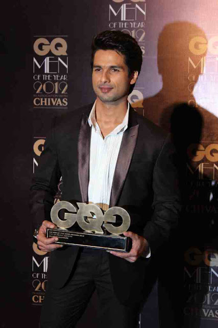 Shahid Kapoor GQ Men Of The Year 2012 Awards