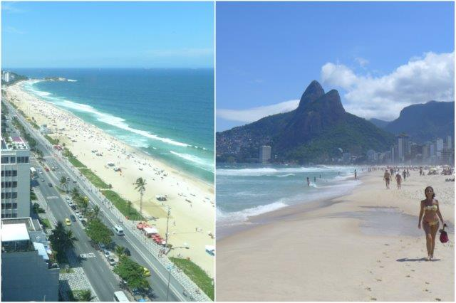 Playa de Ipanema en Río de Janeiro, Brasil