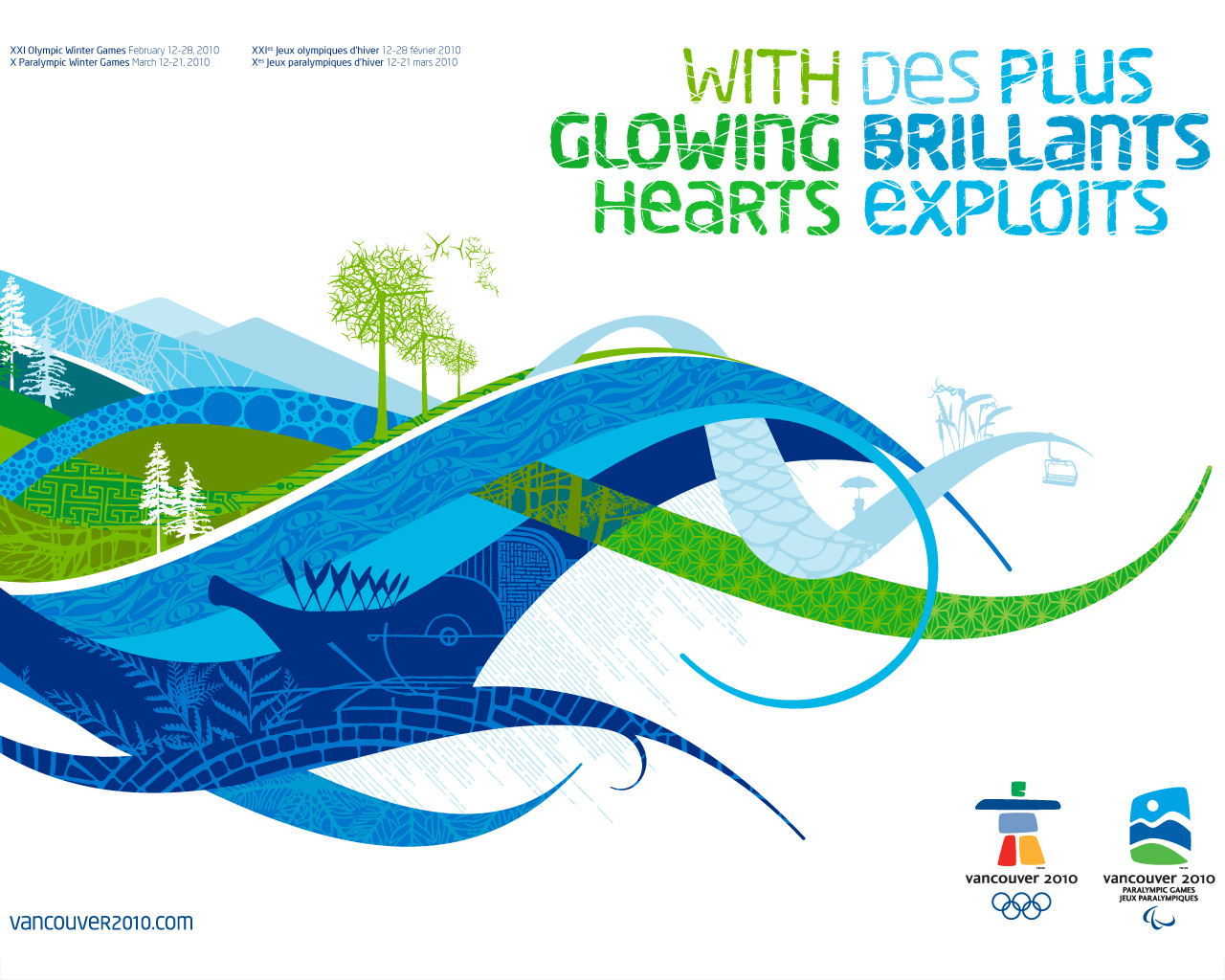 free vancouver 2010 olympic winter games powerpoint background 17