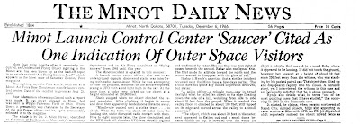 Minot Launch Control Center 'Saucer' Cited As Indication of Outer Space Visitors