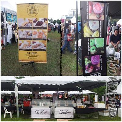 Banner dan booth di Foodgasmfest