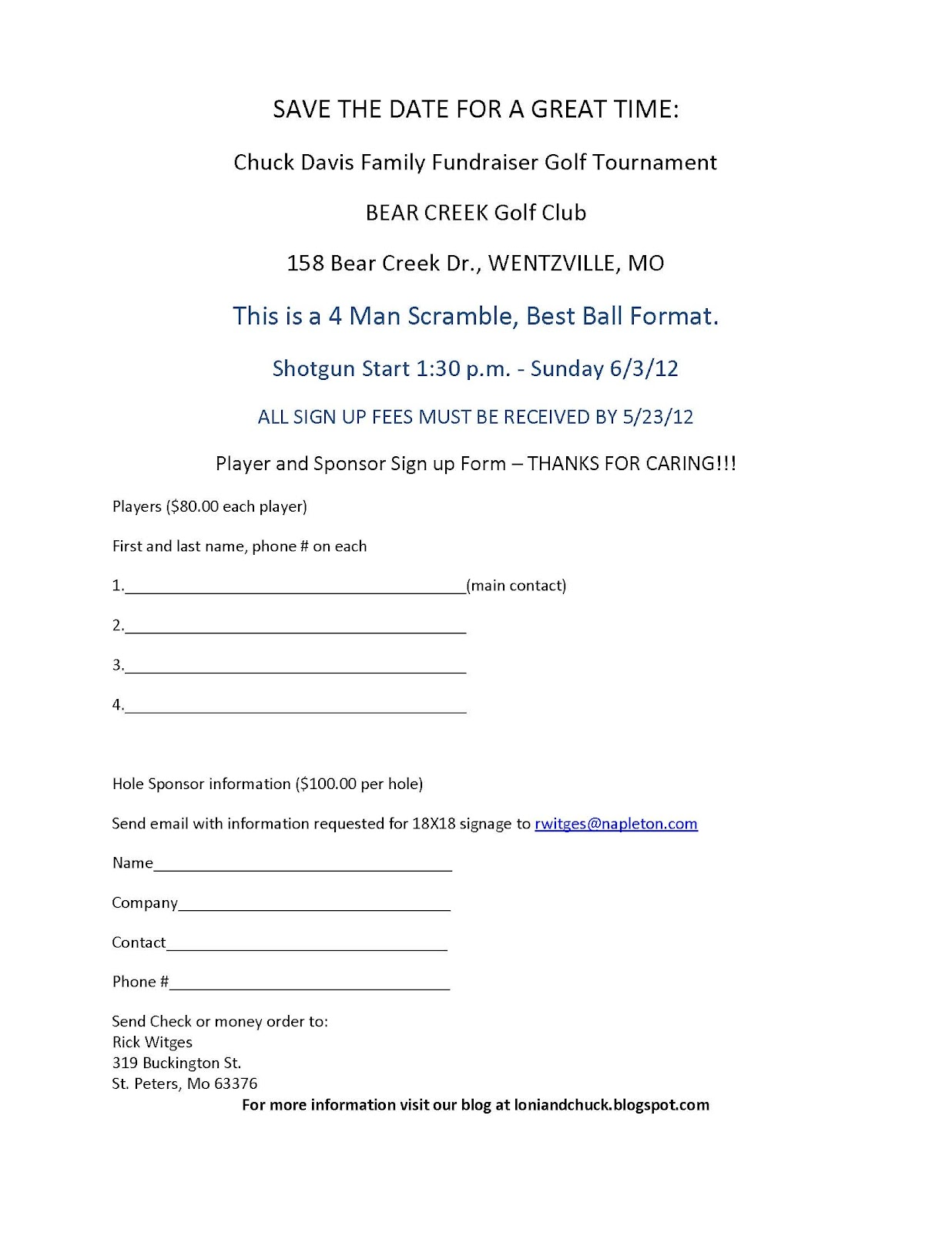 Davisx7 Golf Tournament sign up sheet – E Mail Sign Up Sheet