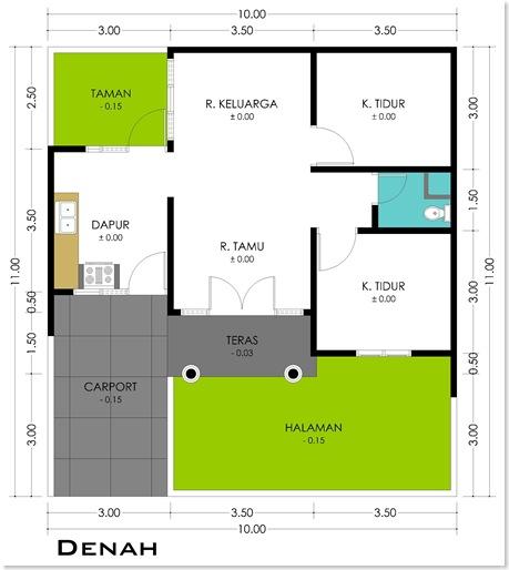 model denah rumah minimalis