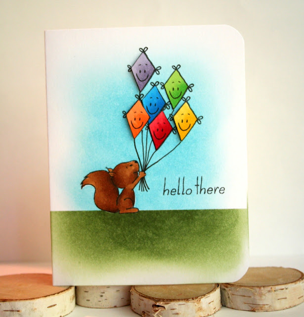 Rainbow Kite Card by Jess Crafts featuring Gerda Steiner Designs Happy Fall
